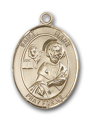 14K Gold St. Mark the Evangelist Pendant