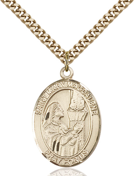 Gold-Filled St. Mary Magdalene Pendant