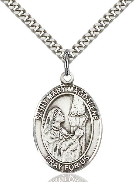 Sterling Silver St. Mary Magdalene Pendant