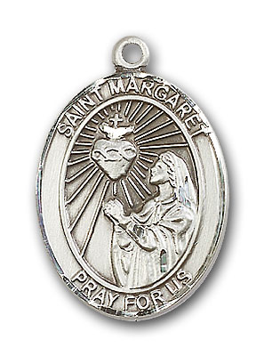 Sterling Silver St. Margaret Mary Alacoque Pendant