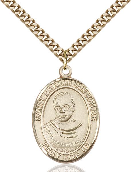 Gold-Filled St. Maximilian Kolbe Pendant