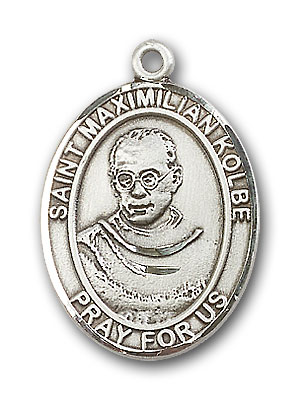 Sterling Silver St. Maximilian Kolbe Pendant