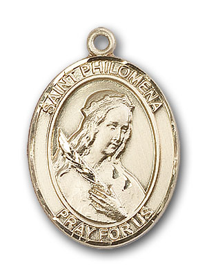 Gold-Filled St. Philomena Pendant