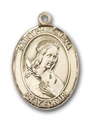 14K Gold St. Philomena Pendant