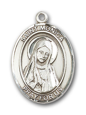 Sterling Silver St. Monica Pendant