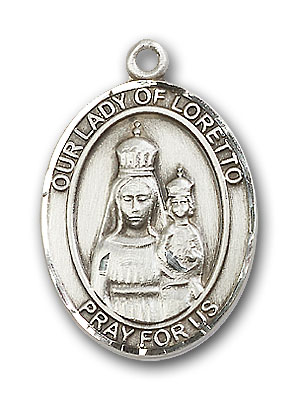 Sterling Silver Our Lady of Loretto Pendant