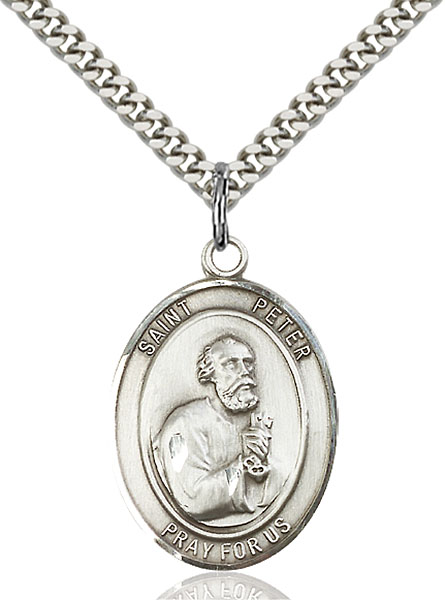 Sterling Silver St. Peter the Apostle Pendant