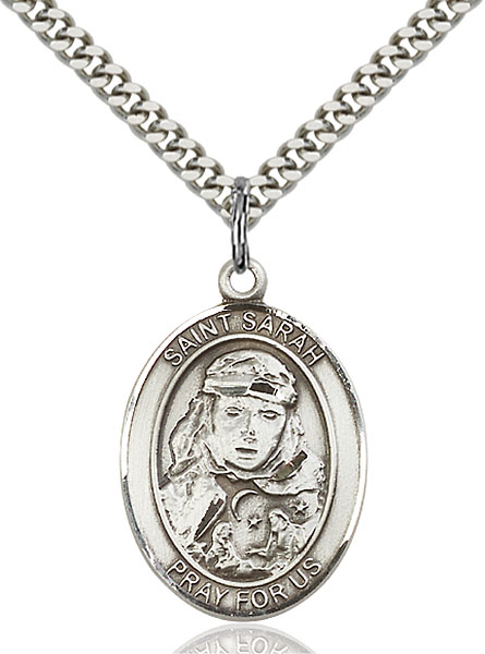 Sterling Silver St. Sarah Pendant