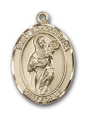 Gold-Filled St. Scholastica Pendant