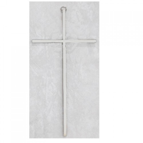 10 Plain Silver Cross