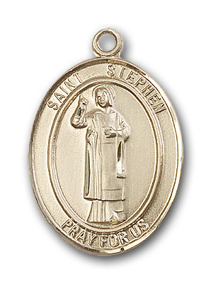 Gold-Filled St. Stephen the Martyr Pendant