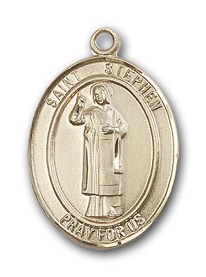 14K Gold St. Stephen the Martyr Pendant