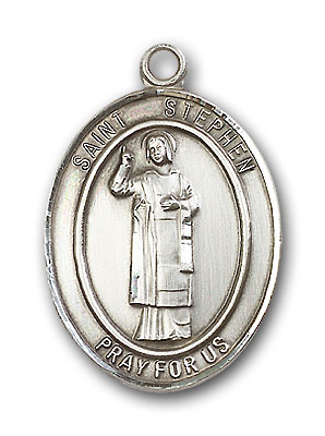 Sterling Silver St. Stephen the Martyr Pendant