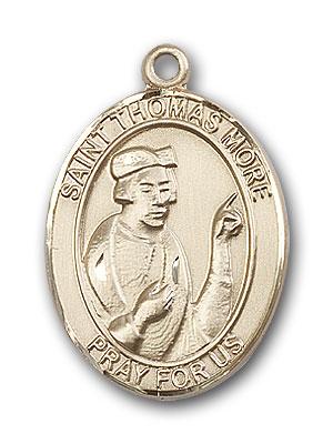 14K Gold St. Thomas More Pendant