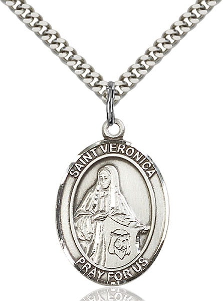 Sterling Silver St. Veronica Pendant