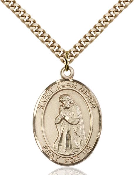 Gold-Filled St. Juan Diego Pendant