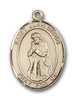 14K Gold St. Juan Diego Pendant