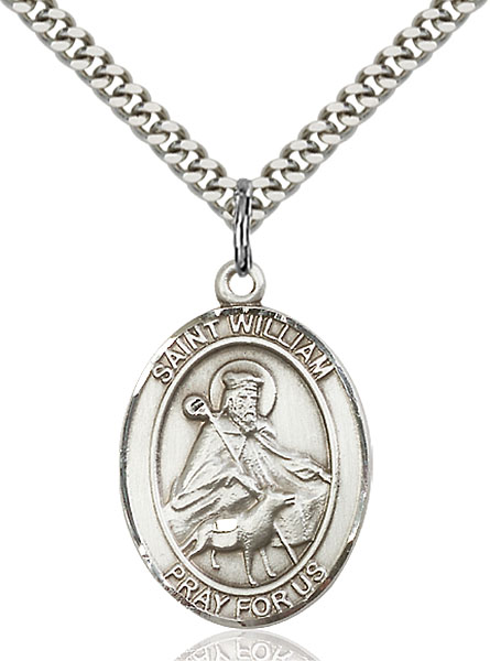 Sterling Silver St. William of Rochester Pendant