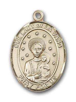 14K Gold OUR LADY of La Vang Pendant