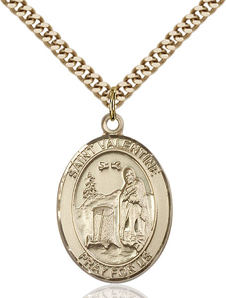 Gold-Filled St. Valentine of Rome Pendant