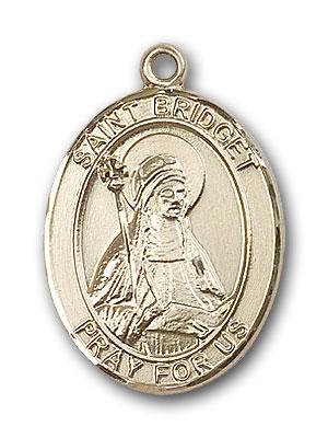 14K Gold St. Bridget of Sweden Pendant