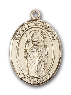 14K Gold St. Stanislaus Pendant