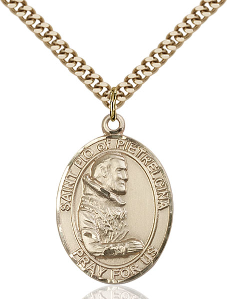 Gold-Filled St. Pio of Pietrelcina Pendant