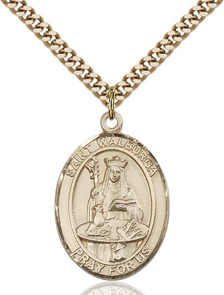 Gold-Filled St. Walburga Pendant