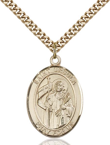 Gold-Filled St. Ursula Pendant