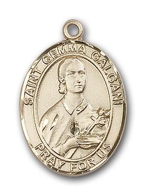 14K Gold St. Gemma Galgani Pendant