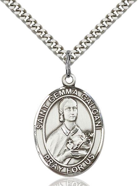 Sterling Silver St. Gemma Galgani Pendant
