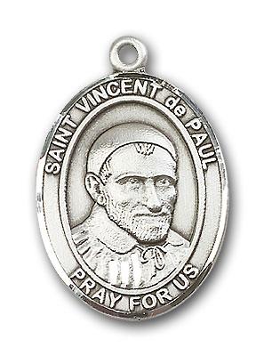 Sterling Silver St. Vincent de Paul Pendant