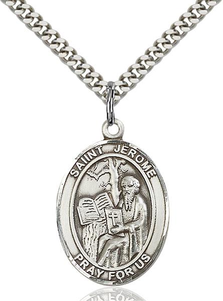 Sterling Silver St. Jerome Pendant