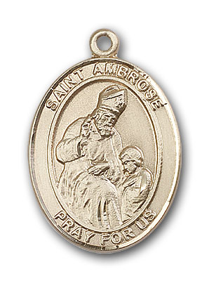 14K Gold St. Ambrose Pendant