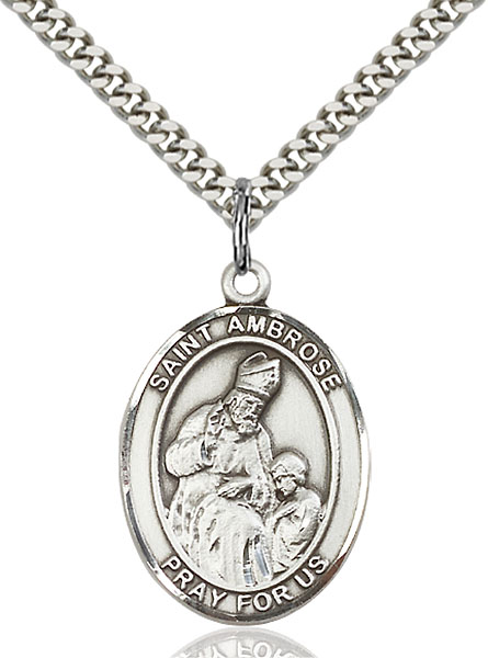 Sterling Silver St. Ambrose Pendant