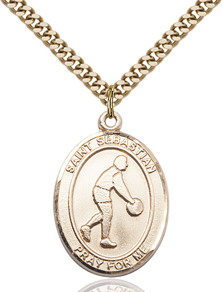 Gold-Filled St. Sebastian Pendant