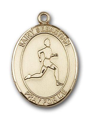 14K Gold St. Sebastian Pendant