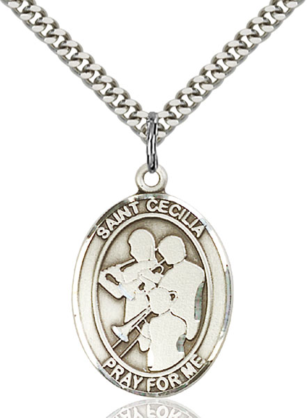Sterling Silver St. Cecilia Marching Band Pendan
