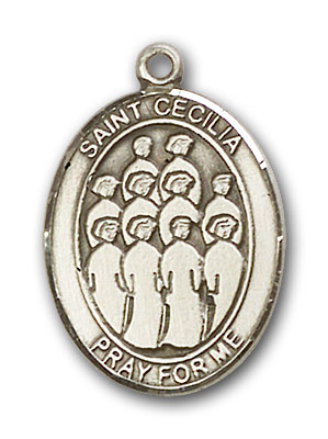 Sterling Silver St. Cecilia Choir Pendant
