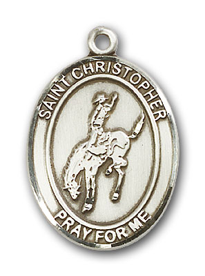 Sterling Silver St. Sebastian Rodeo Pendant