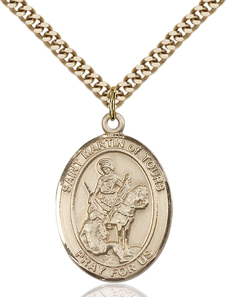 Gold-Filled St. Martin of Tours Pendant