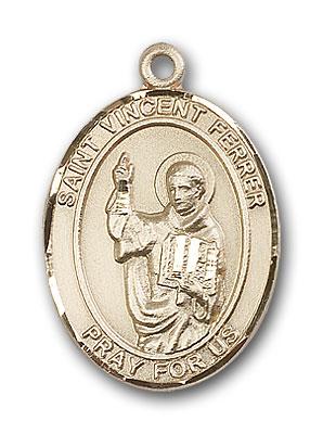 14K Gold St. Vincent Ferrer Pendant