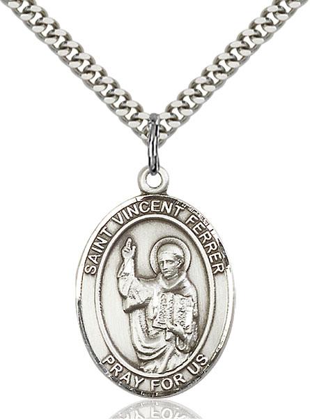 Sterling Silver St. Vincent Ferrer Pendant