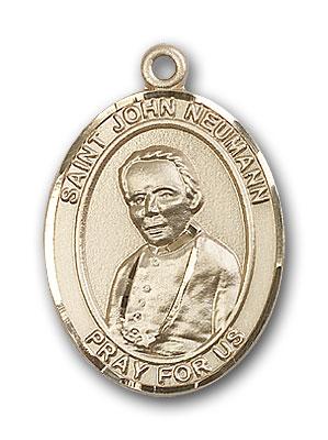 14K Gold St. John Neumann Pendant