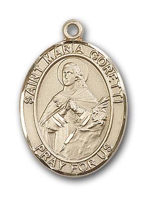 14K Gold St. Maria Goretti Pendant