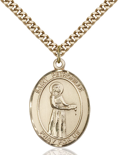 Gold-Filled St. Petronille Pendant