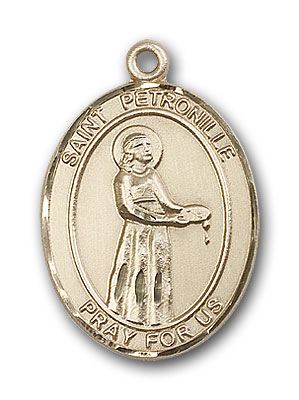 14K Gold St. Petronille Pendant