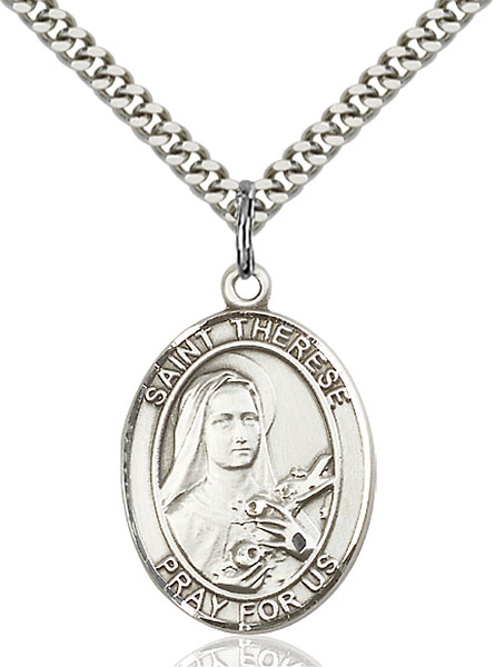 Sterling Silver St. Therese of Lisieux Pendant
