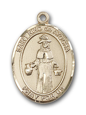 14K Gold St. Nino de Atocha Pendant