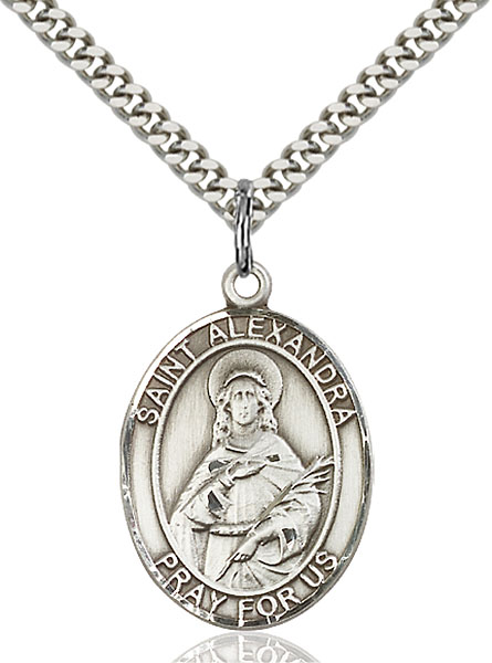 Sterling Silver St. Alexandra Pendant